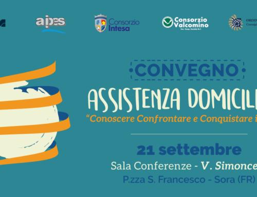 In arrivo il Convegno sull'Assistenza Domiciliare promosso dal Consorzio Intesa e dal Consorzio Valcomino con il patrocinio dell' AIPES.