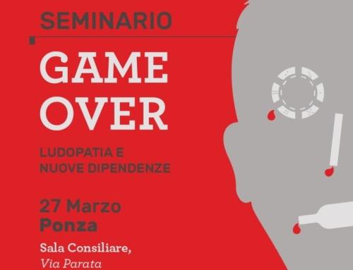 """Il 27 marzo avrà luogo a Ponza il seminario """"GAME OVER: quando il gioco diventa patologico. Ludopatia e nuove dipendenze""""."""