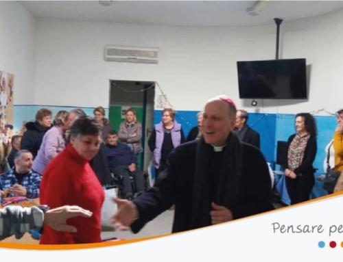 """La visita pastorale del Vescovo, Sua Eccellenza Gerardo Antonazzo, al Centro Diurno per Disabili """"Percorsi""""."""